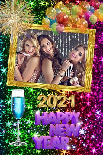 2021 New Year Photo Frames Greeting Wishes v1.0.2 screenshots 4
