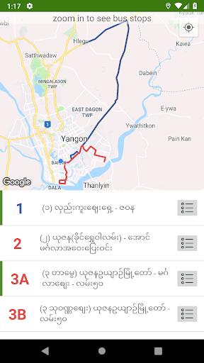 39 Bite Pu – Yangon Bus Guide v2.4 screenshots 2