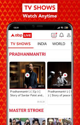 ABP Live TV News Latest India Hindi News channel v10.0.5 screenshots 6
