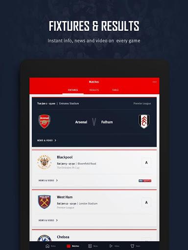Arsenal Official App v screenshots 8