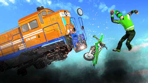 Bike vs. Train Top Speed Train Race Challenge v10.1 screenshots 1