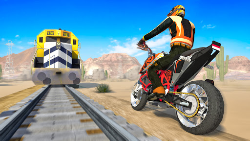 Bike vs. Train Top Speed Train Race Challenge v10.1 screenshots 2
