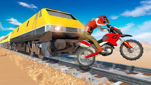Bike vs. Train Top Speed Train Race Challenge v10.1 screenshots 4