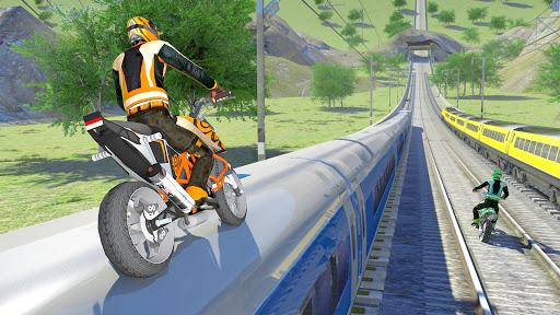 Bike vs. Train Top Speed Train Race Challenge v10.1 screenshots 5