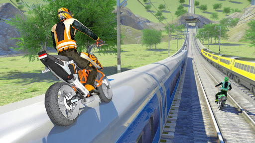 Bike vs. Train Top Speed Train Race Challenge v10.1 screenshots 7