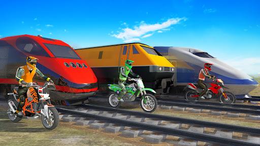 Bike vs. Train Top Speed Train Race Challenge v10.1 screenshots 9
