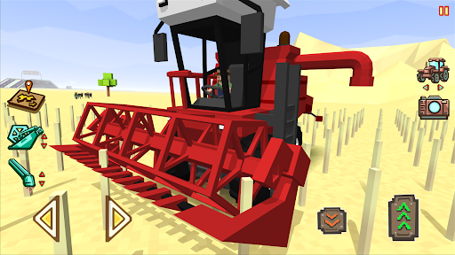 Blocky Farm Racing amp Simulator – free driving game v1.41 screenshots 1