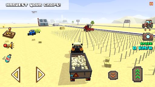 Blocky Farm Racing amp Simulator – free driving game v1.41 screenshots 4