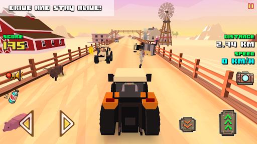 Blocky Farm Racing amp Simulator – free driving game v1.41 screenshots 9