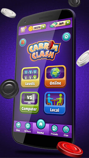 Carrom Clash Realtime Multiplayer Free Board Game v1.36 screenshots 1