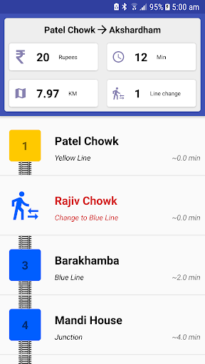Delhi Metro Navigator – Fare Route Map Offline v10.0.56 screenshots 1