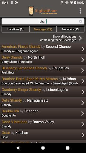 DigitalPour Pocket Beer Menu v3.2 screenshots 2