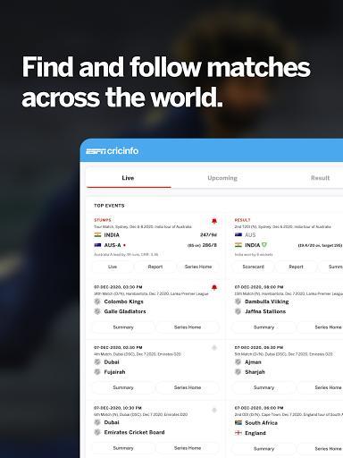 ESPNCricinfo – Live Cricket Scores News amp Videos v7.0 screenshots 4