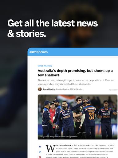 ESPNCricinfo – Live Cricket Scores News amp Videos v7.0 screenshots 5