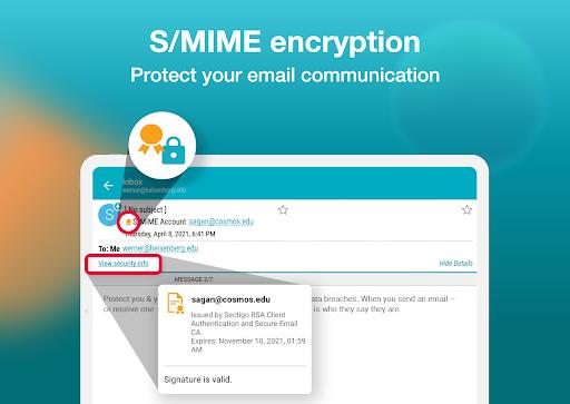 Email Aqua Mail – Exchange SMIME Smart inbox v1.29.1-1808 screenshots 9