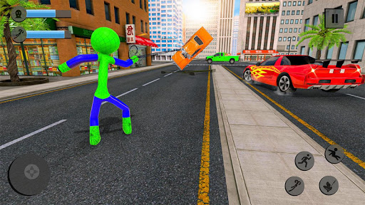 Flying Stickman Rope Hero Flying Hero Crime City v2.7 screenshots 3
