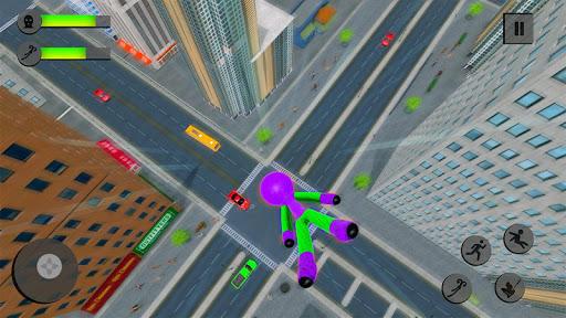 Flying Stickman Rope Hero Flying Hero Crime City v2.7 screenshots 4
