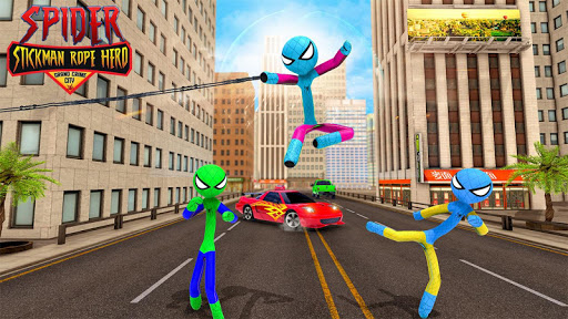 Flying Stickman Rope Hero Flying Hero Crime City v2.7 screenshots 5