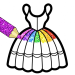 Free Download Glitter Dresses Coloring Book For Girls 7.0 APK