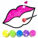 Free Download Glitter Lips with Makeup Brush Set coloring Game 2.2 APK
