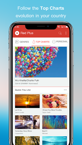 Free Music – Red Plus v1.89 screenshots 1