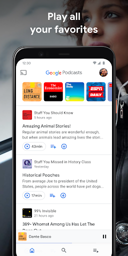 Google Podcasts Discover free amp trending podcasts v1.0.0.301897054 screenshots 1