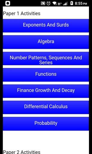 Grade 12 Mathematics Mobile Application v2.0 screenshots 2