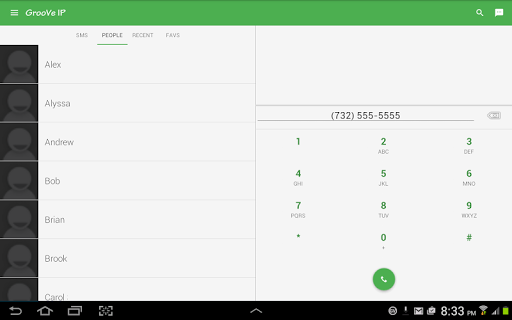 GrooVe IP VoIP Calls amp Text v4.3.2 screenshots 4