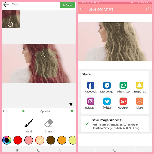Hair color changer – Try different hair colors v1.10 screenshots 2