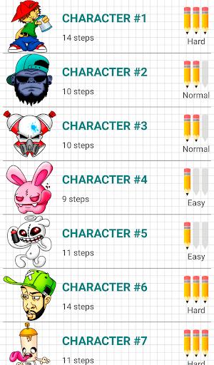 How to Draw Graffiti Characters v2.1 screenshots 1