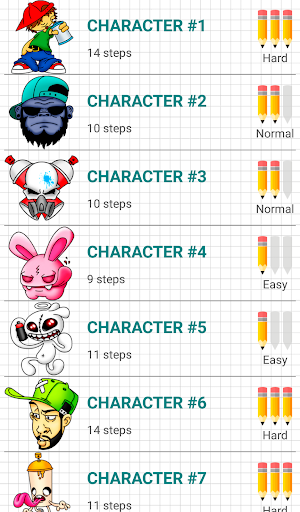 How to Draw Graffiti Characters v2.1 screenshots 9
