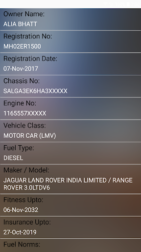 How to find Vehicle Car Owner detail from Number v4.0.0 screenshots 2