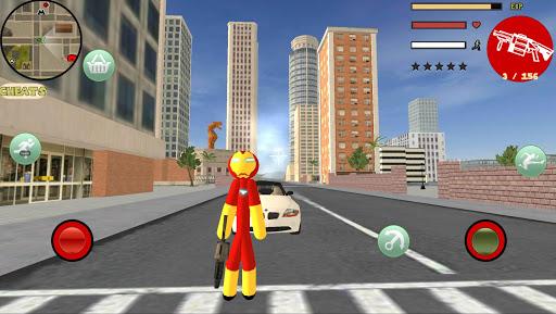 Iron Stickman Rope Hero Gangstar Crime v4.0 screenshots 1