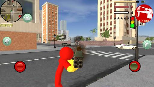Iron Stickman Rope Hero Gangstar Crime v4.0 screenshots 2