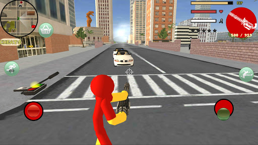 Iron Stickman Rope Hero Gangstar Crime v4.0 screenshots 5