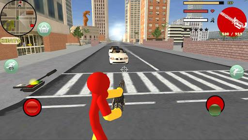 Iron Stickman Rope Hero Gangstar Crime v4.0 screenshots 7