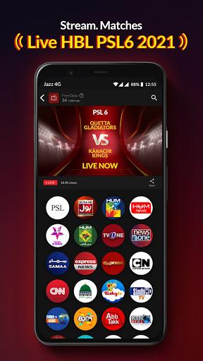 Jazz TV Watch PSL 6 News Turkish Dramas Sports v2.7.0 screenshots 14