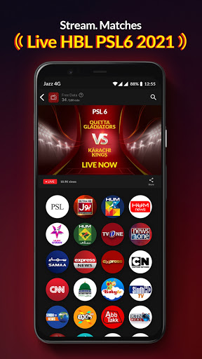 Jazz TV Watch PSL 6 News Turkish Dramas Sports v2.7.0 screenshots 2