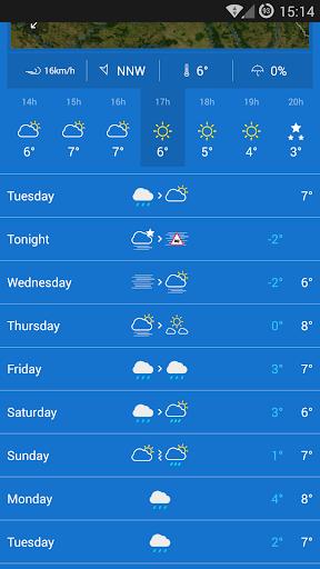 KMI – IRM .be Weather v2.9.5 screenshots 2
