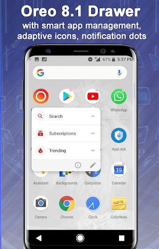 Launcher Oreo 8.1 v1.9 screenshots 2