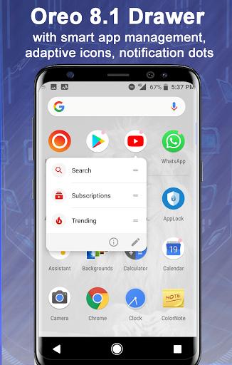 Launcher Oreo 8.1 v1.9 screenshots 4
