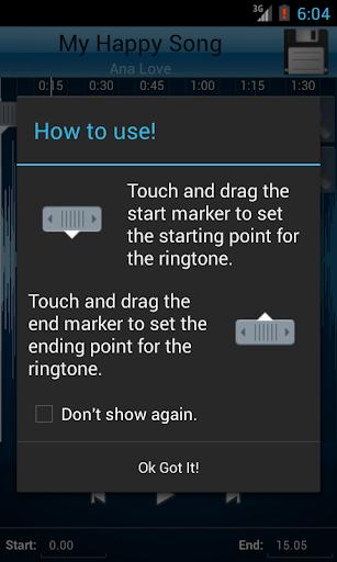 MP3 Cutter and Ringtone Maker v2.5 screenshots 2