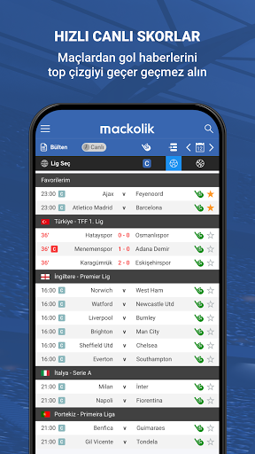 Mackolik Canl Sonular v7.2.3 screenshots 1