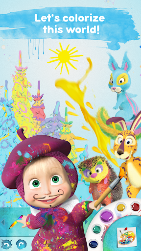 Masha and the Bear Free Coloring Pages for Kids v1.7.7 screenshots 1