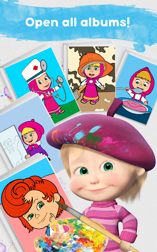 Masha and the Bear Free Coloring Pages for Kids v1.7.7 screenshots 13