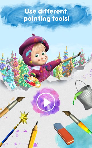 Masha and the Bear Free Coloring Pages for Kids v1.7.7 screenshots 14