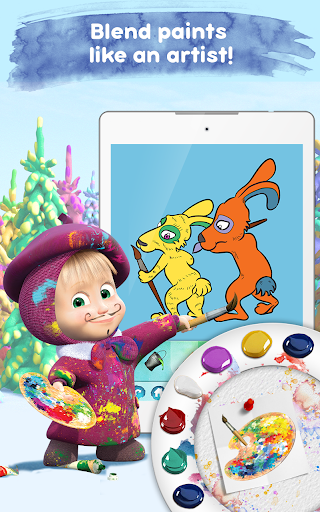 Masha and the Bear Free Coloring Pages for Kids v1.7.7 screenshots 15