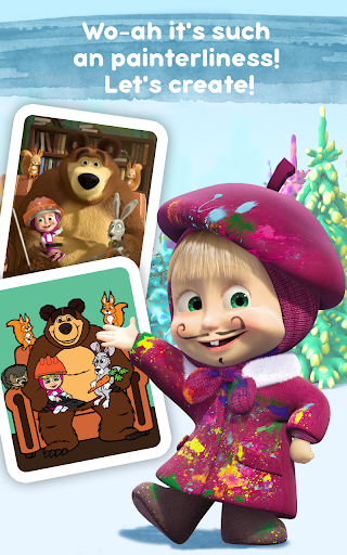Masha and the Bear Free Coloring Pages for Kids v1.7.7 screenshots 17