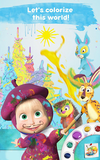 Masha and the Bear Free Coloring Pages for Kids v1.7.7 screenshots 20