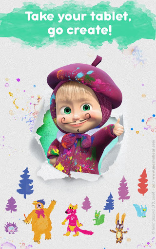 Masha and the Bear Free Coloring Pages for Kids v1.7.7 screenshots 21